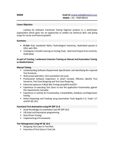 Sample Manual Testing Resumes – Blog Posts   sierrarutracker