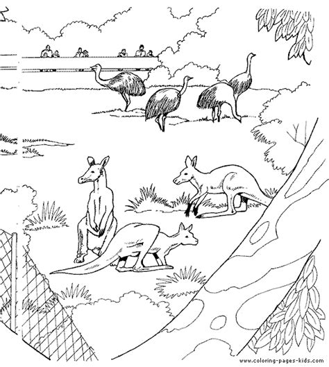 educational coloring pages zoo animals free ostriches and color page more free printable zoo