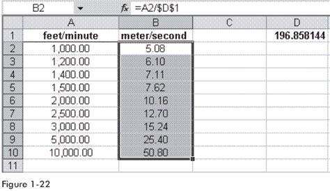 ft to meter convert meters to feet in excel