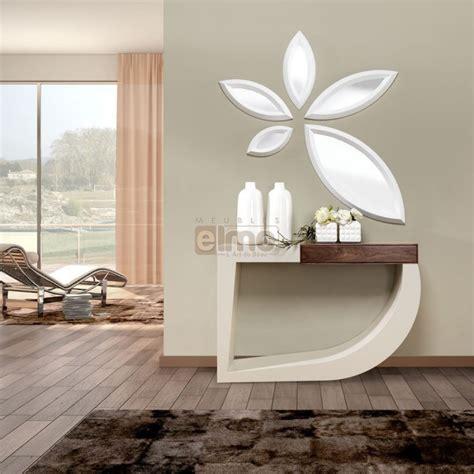 console design bois et laque 1 tiroir miroir assorti