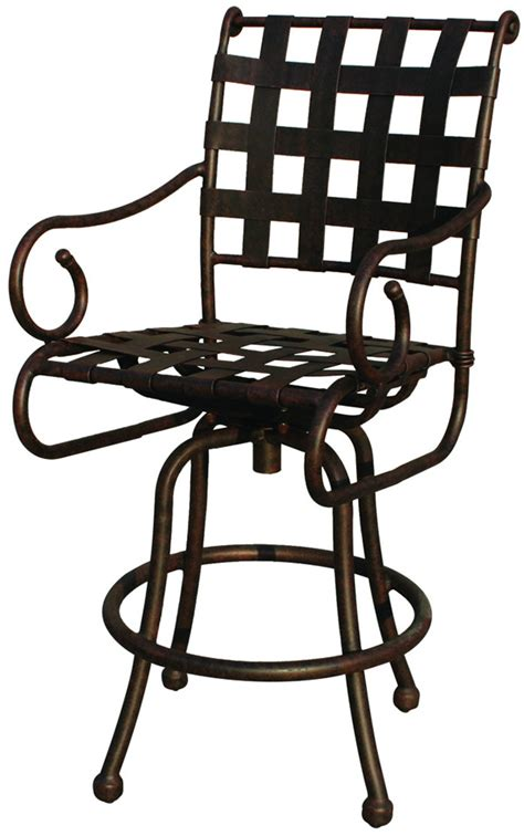Bar Stool Patio Furniture by Patio Furniture Bar Stool Swivel Cast Aluminum Malibu