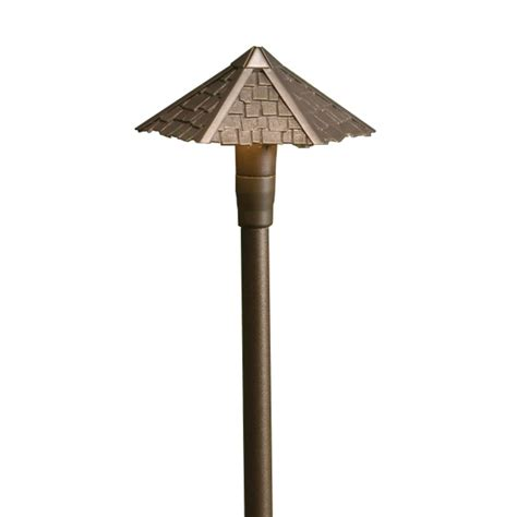 Kichler Path Light Kichler Path Light With White Glass In Bronze Finish 15401azt Destination Lighting