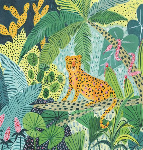 youll    lost   colorful jungle illustrations