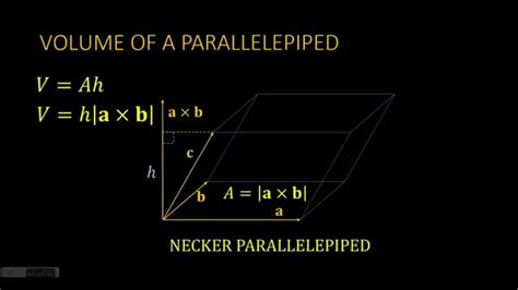 cross product ii volume   parallelepiped youtube