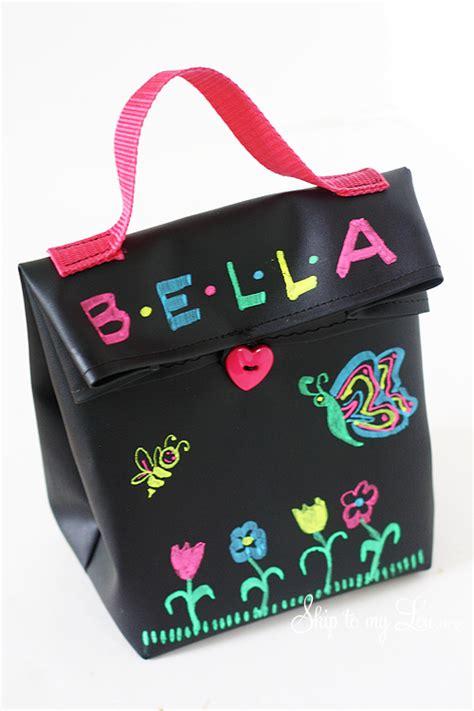 diy chalkboard fabric chalk cloth lunch bag