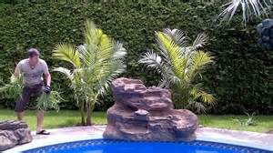 how to build a waterfall into a pool serenity pool waterfall installation youtube