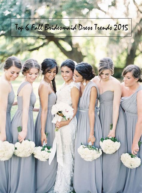 Top 8 Wedding Dresses For A Fall Wedding by Top 6 Bridesmaid Dress Trends For Fall Wedding 2015