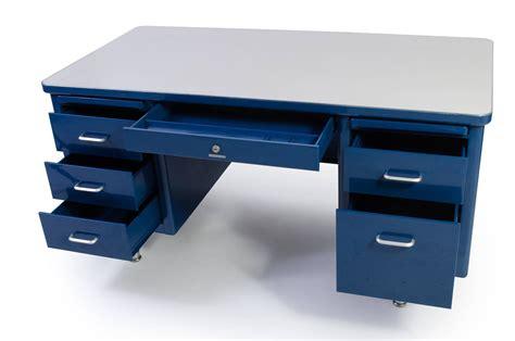 steel tanker desk for sale steelcase tanker desk in marine blue edited by montage