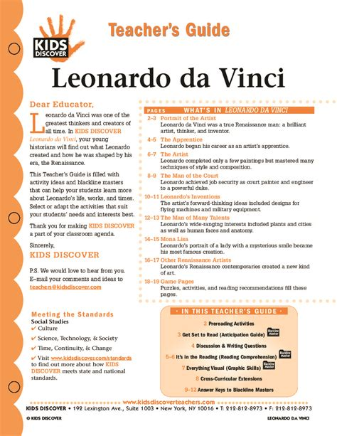 leonardo da vinci biography for students leonardo da vinci kids discover art ed pinterest