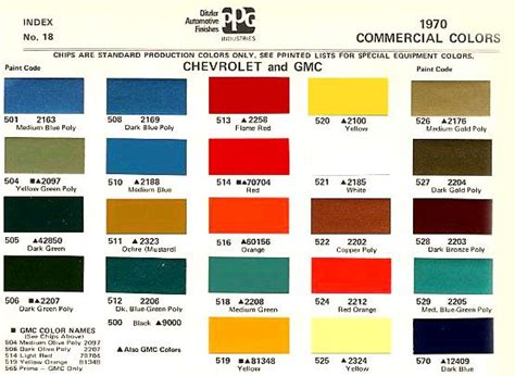 1970 color code the 1947 present chevrolet gmc truck message vintage trucks