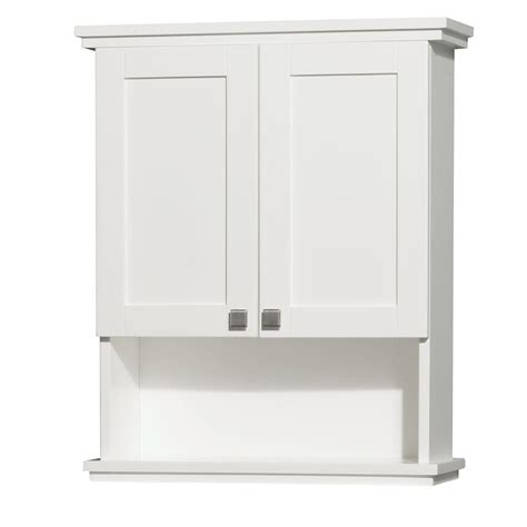 White Bathroom Wall Cabinet Wyndham Collection Acclaim 25 In W X 30 In H X 9 1 8 In D Bathroom Storage Wall Cabinet In