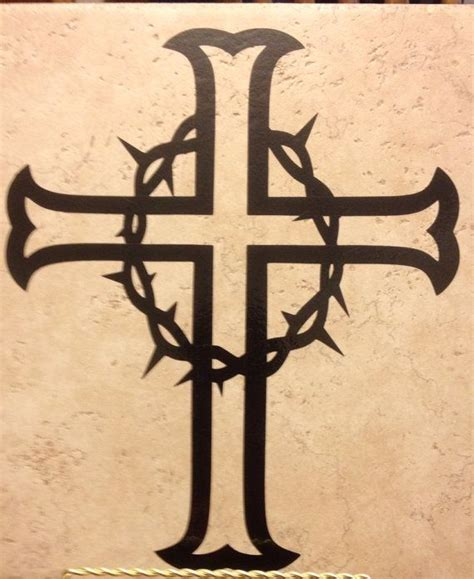 thorn cross tattoo cross with crown of thorns decal by 3blessedchix on etsy