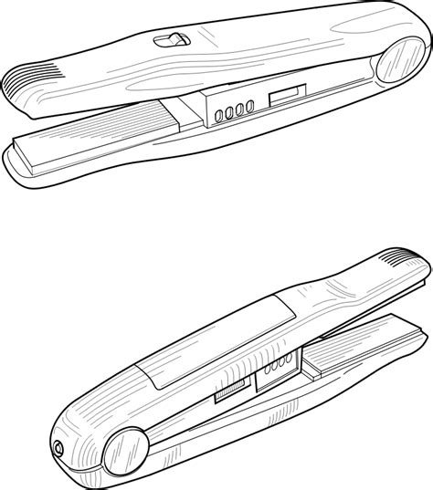 Hair Dryer Technical Description hair straightener by jicjac a technical drawing of a