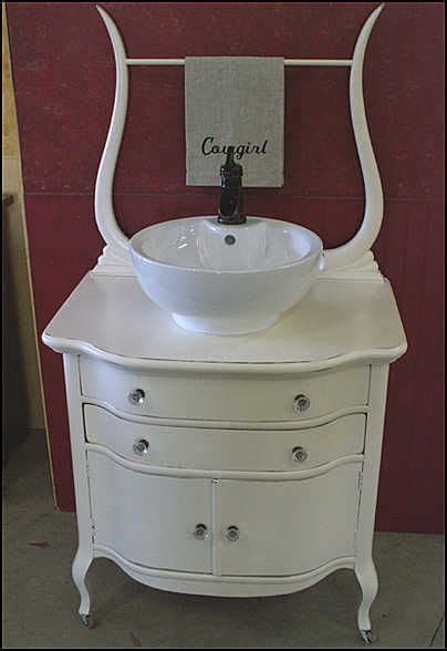 Antique Bathroom Vanity With Vessel Sink by Pin By Donna Broyles On Rooms