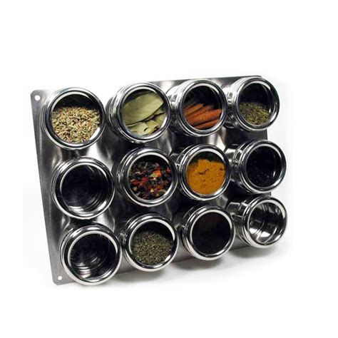 Soho Spices Magnetic Spice Rack 13 soho stainless steel magnetic spice rack set kitchen jar storage crafts ebay