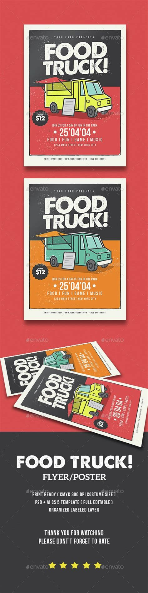 graphicriver flyer download food truck flyer template psd download here http