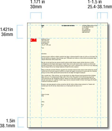 business letterhead measurements executive 3m corporate identity 3m worldwide