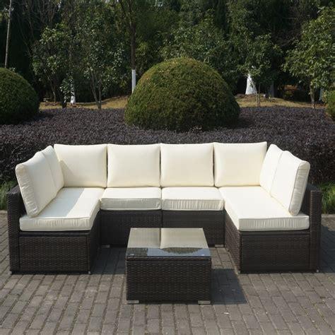 brown rattan sofa brown rattan corner sofa set with coffee table ebay