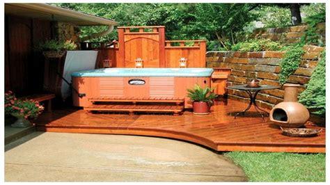 tub in backyard ideas backyard tub privacy home outdoor decoration