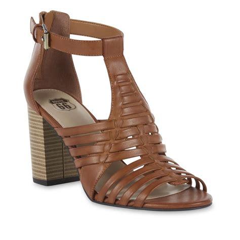 brown sandal heels route 66 s erin high heel brown sandal shop your