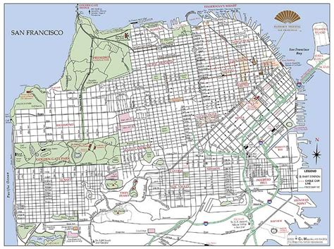 san francisco library map citymapmaker creates printed maps for hotels and