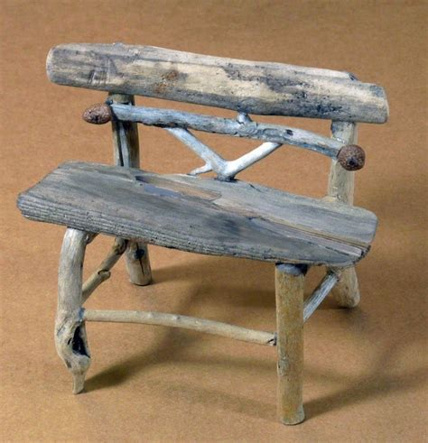 twig bench twig furniture miniature rustic twig garden bench by
