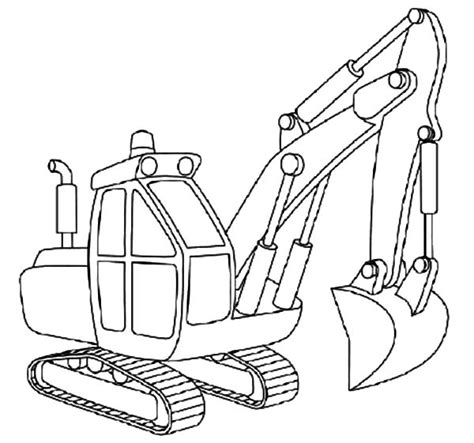 mini excavator coloring pages how to draw excavator coloring pages download print