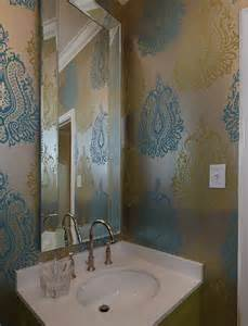 wallpaper bathroom designs metallic wallpaper contemporary bathroom artistic