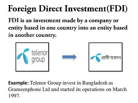 Foreign Direct Investment Mba Notes by Foreign Direct Investment Fdi In Bangladesh
