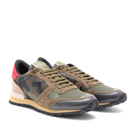valentino sneakers valentino camouflage sneakers in gray lyst