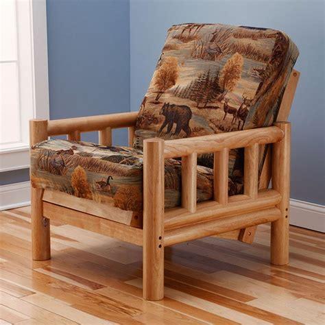 chair size futon lodge chair size futon set premium cover dcg stores