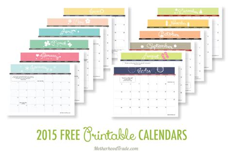 diy planner 2015 free printable free printable calendars for 2015 paper crush