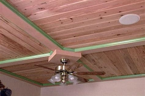How To Install Wood Ceiling Planks by Learn How To Install Solid Wood Ceiling Paneling Diy Ceilings Planks The O
