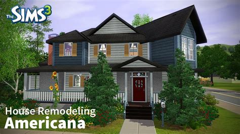 house renovation game the sims 3 house remodeling americana base game only youtube