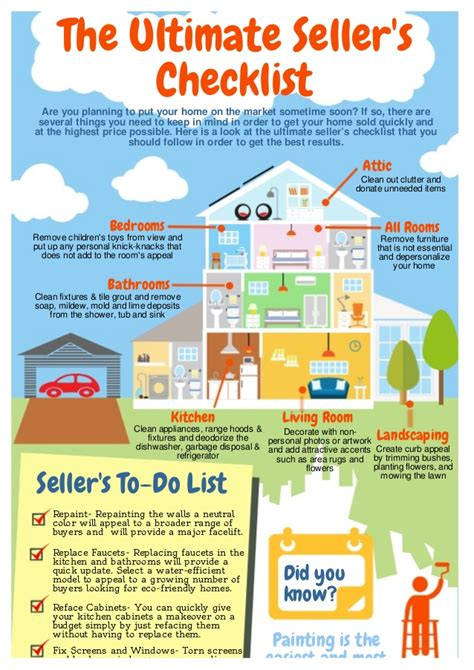 when to put your checklist the ultimate seller s checklist