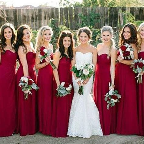 Dress Front Ribbon Maroon A15457gn pretty wine simple bridesmaid dresses 2015 bridesmaid