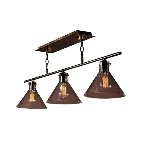 Black 3 Light Chandelier Edison Amerie Collection 3 Light Black Island Indoor Chandelier Ld4012 The Home Depot