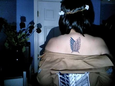 wings of freedom tattoo 10 beautiful attack on titan tattoos neatorama