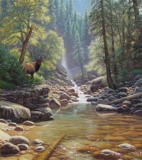 bob ross painting deer 27 best watercolor home on the range elk images on