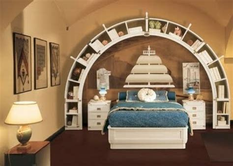 Bookcase Building by Modern Bedroom With Sea Theme Home Interior Design Ideas