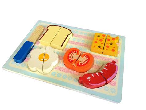 Mainan Kayu Roti Potong puzzle chunky roti potong mainan kayu