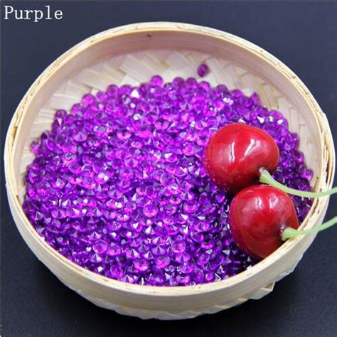 quality 1000 pcs purple acrylic bling confetti wedding decoration