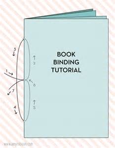 Easy Handmade Books - a simple book binding tutorial with both an illustration