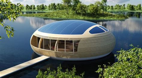 technology house future technology concept of eco friendly floating house