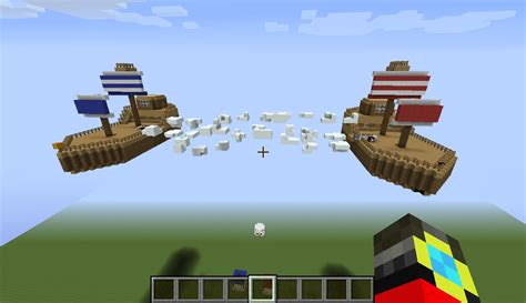 floating boat in minecraft floating boat battle minecraft project