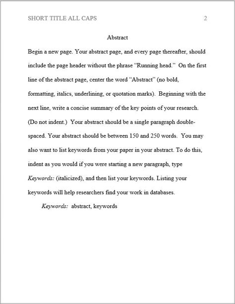 apa abstract template apa formatting apa style topic guide libguides at