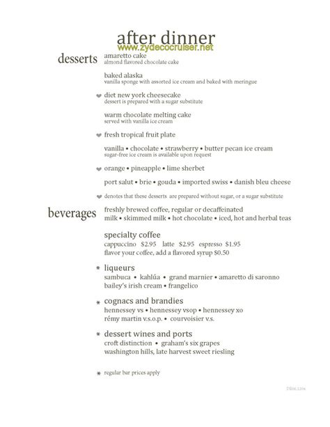 Carnival Dining Room Menu by Baked Eggplant With Mozzarella Cheese