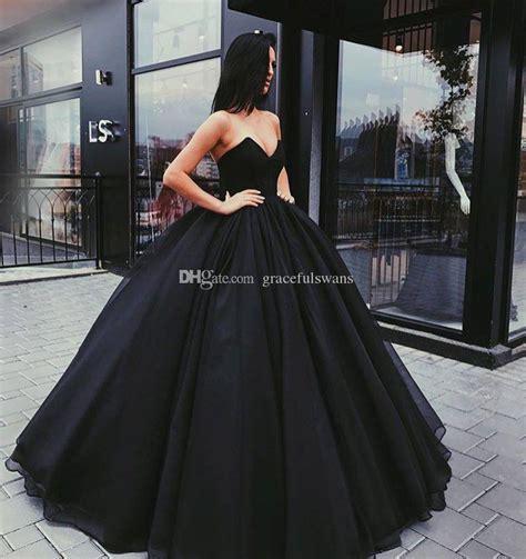 Simple Black Ball Dress