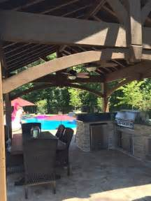 outdoor kitchen frame kit poolside pavilion kit outdoor kitchen