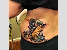 Fantasie Seite Elefant Charakter Schildkröte Tattoo von ... Tribal Hand Tattoo Designs